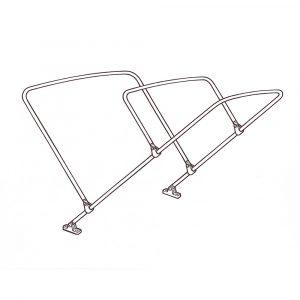 3 Bow Bimini Kit 25mm Aluminium - Small