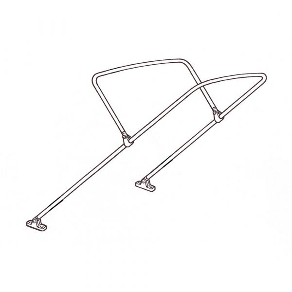 """2 Bow Kit 1"""" Stainless Steel - Large"""